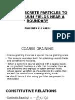 Granular Mechanics Continuum Analysis