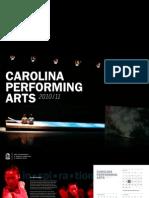 Carolina Performing Arts 2010-11 Season Brochure