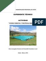 Expediente Técnico de Vivero Forestal y Fruticola Municipal