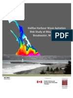 Halifax Harbour Wave Agitation Risk Study at Maughers Beach Breakwater, McNabs Island