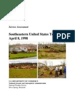 Tornado Outbreak in the South April 8, 1998