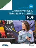 Rapport annuel 2015 de la CNIL