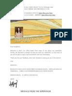 Supervisor Tang's April Newsletter
