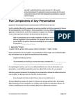 Five Components of Any Presentation