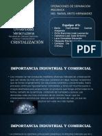 Cristalización como operación unitaria