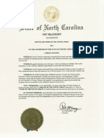 2016 McCrory Proclamation Month and Week of the Young Child