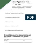 peer mediation application form 2015