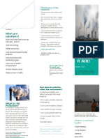 brochure for air pollution