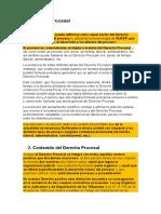 Derecho Procesal (Concepto, Contenido, Caracteres)