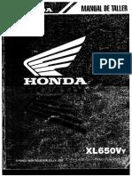 Honda XL650V Transalp - Manual de Taller