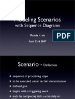 Modeling Scenarios with Sequence Diagrams