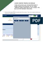 creating a user context profile in edplan