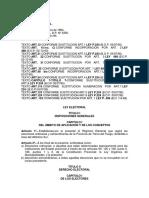 Ley Electoral LEY Nº 201