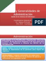 1.- Generalidades de La Administración