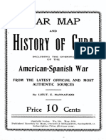 War Map & History of Cuba (Hannaford 1898)