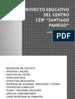 Proyecto Educativo Del Centro CEIP SANTIAGO PANIEGO