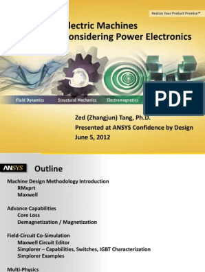 Ansys Electric Machines and Power Electronics | Magnetization