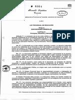 Ley Provincial de Educación 8391