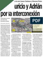 08-04-16 Van Mauricio y Adrián por la interconexión