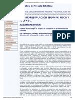 La Autorregulación Según W.reich y a.S.neill