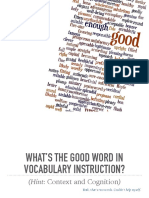 Good Word in Vocabulary Instruction