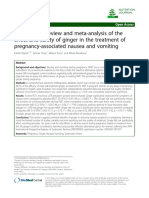 A Systematic Review and Meta-Analysis of the Effect and Safety ofGingerin the Treatment of Pregnancy-Associated Nausea and Vomiting.