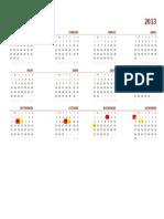 Calendario global2013