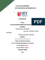 Ley de Contrataciones Del Etado TITULO I Y II