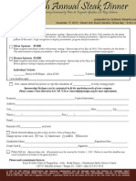 2010 Steak Dinner Sponsorship and Ticket Form