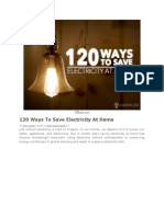 120 Ways to Save Electricity at Home