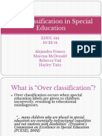 pp overclassification in special education final pptx