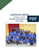 INFORME DE ACTIVIDADES DEL SEGUNDO ENCUENTRO IBARRA ECUADOR