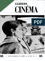 Cahiers Du Cinemá 115