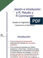 Instalación e Introducción a R RStudio y R Commander