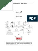 Microsoft - April 2010 USPTO Published Patent Applications