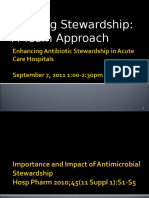 September 7, 2011 Antimicrobial Stewardship