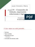 POO 04 Operadores Logicos e Condicionais