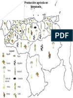 Mapa producción agrícola en Venezuela