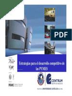 Estratégias Para El Desarrollo Competitivo de Las PYMES