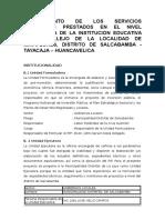 Creacion de Los Servicios Educativos Prestados en El Nivel Secundaria de La Institucion Educativa Cesar Vallejo de La Localidad de Miraflores