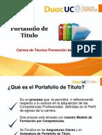 Presentación Portafolio 2016 Tecnico Prev Riesgos