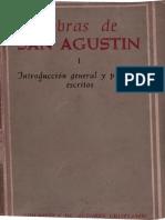 1 AGUSTÍN DE HIPONA - Obras completas, I. Escritos filosóficos (1.º). Introducción general y primeros escritos (BAC, Madrid, 1962-1969)