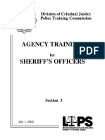 Agency Training for Sheriffs Officers
