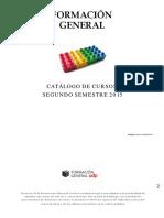 Catalogo Formacion General II 2015