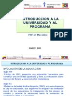 INTRODUCCION A LA UNIVERSIDAD Y AL PROGRAMA. I.pptx