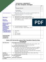 lesson plan template abridged seniors 4 4