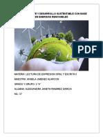 Medio Ambiente y Desarrollo Sustentable Con Base en Energias Renovables