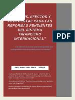 REFORMAS PENDIENTE DEL SISTEMA FINANCIERO INTERNACIONAL
