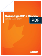 NDP Campaign Review