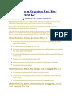 Fungsi Struktur Susunan Organisasi Unit Tim Tanggap Darurat K3